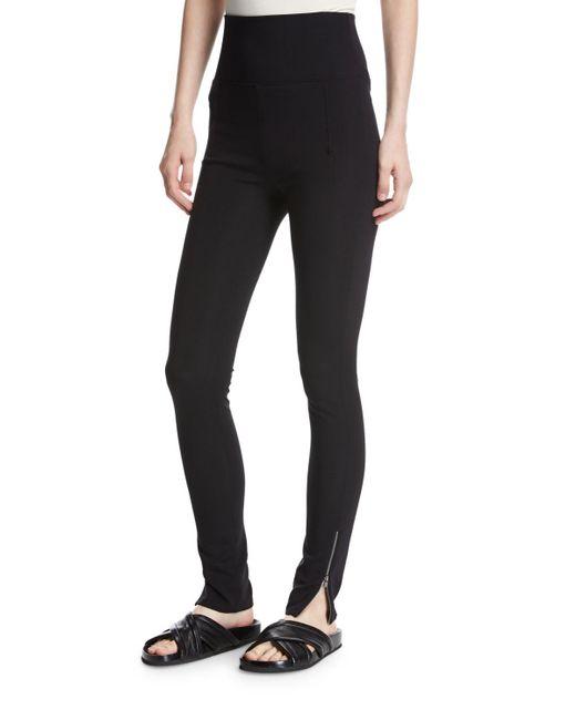 Helmut Lang - Black High-waist Technical Zip Leggings - Lyst