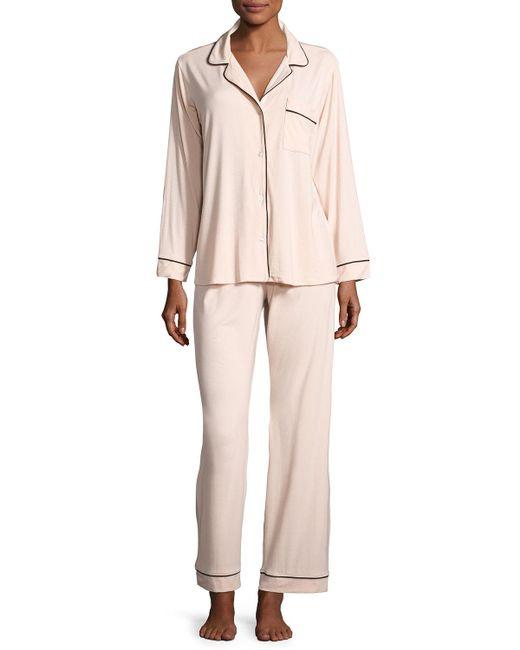 Eberjey - Pink Gisele Long Pajama Set - Lyst