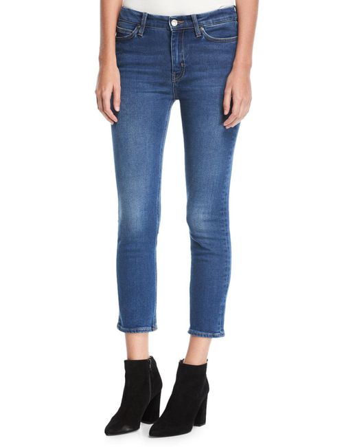 MiH Jeans - Blue Niki Mid-rise Crop Skinny Jeans - Lyst