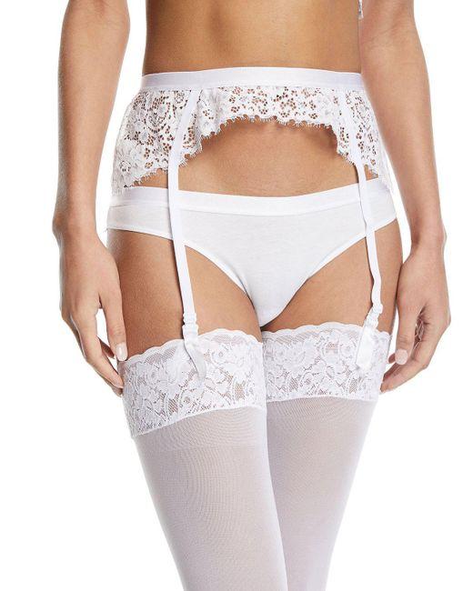 Cosabella - White Jazmine Lace Garter Belt - Lyst