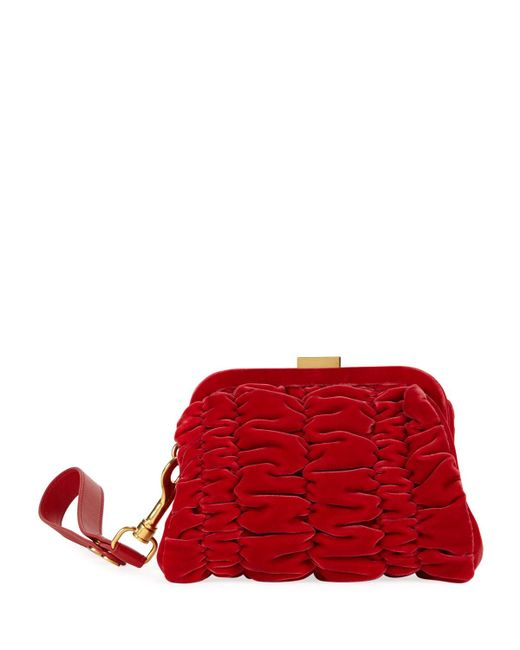 Tom Ford - Red Quilted Velvet Clutch Bag With Wristlet - Lyst