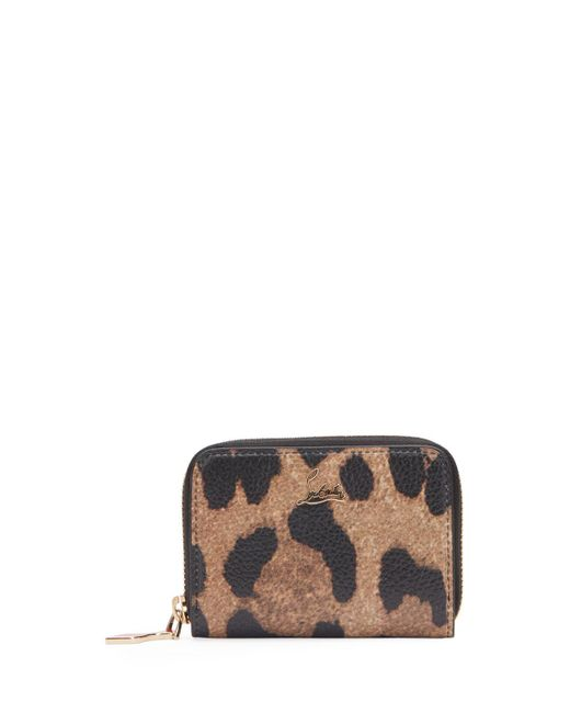 Christian Louboutin - Brown Panettone Leopard-print Leather Coin Purse - Lyst
