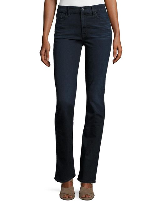 7 For All Mankind - Blue Riche Touch Slim Straight Jeans - Lyst