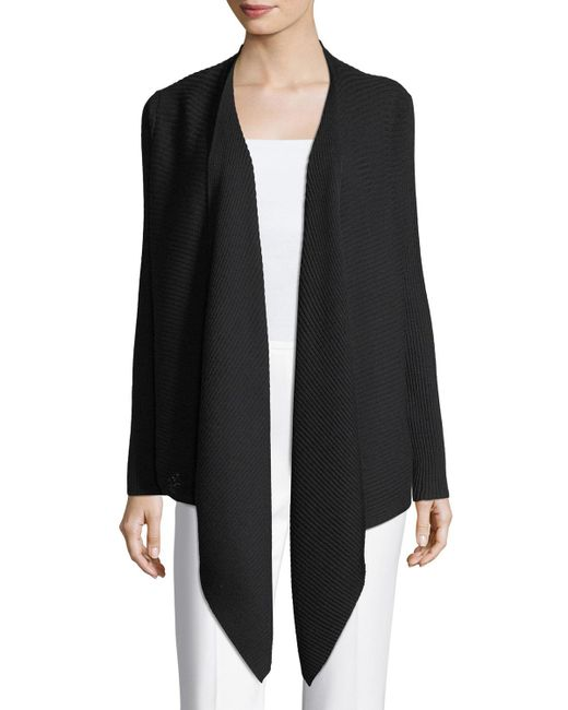 Eileen Fisher | Multicolor Washable Wool Wrap Cardigan | Lyst