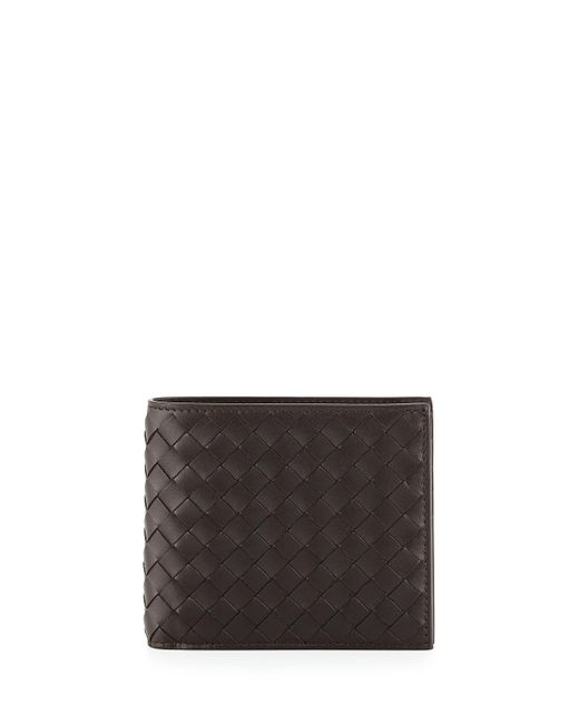 Bottega Veneta - Brown Basic Woven Wallet for Men - Lyst