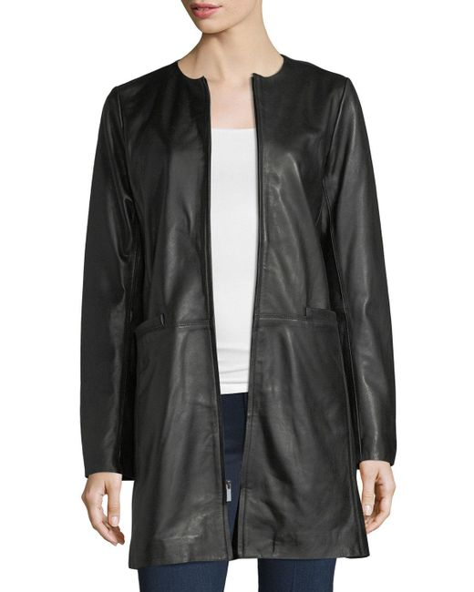 Neiman Marcus - Black Leather Topper - Lyst