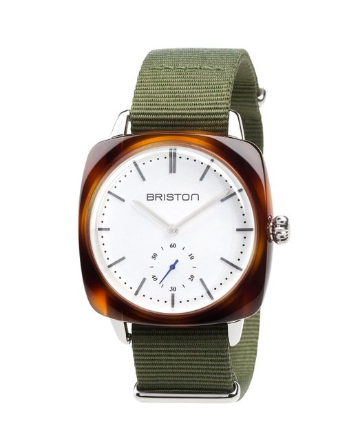 Briston | Brown Clubmaster Vintage Chronograph Watch | Lyst