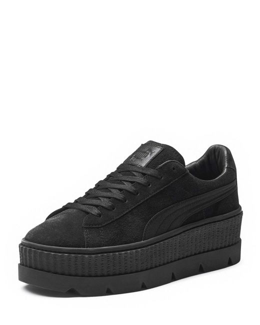 PUMA | Black Cleated Suede Creeper Sneaker | Lyst