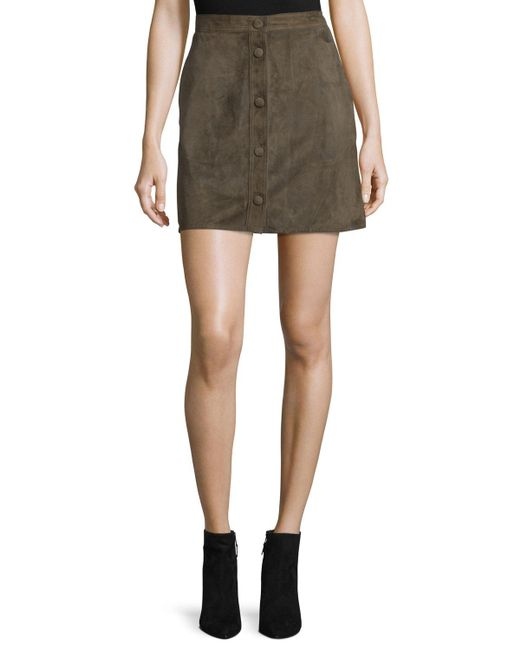 Helmut Lang - Multicolor Suede High-rise Mini Skirt - Lyst
