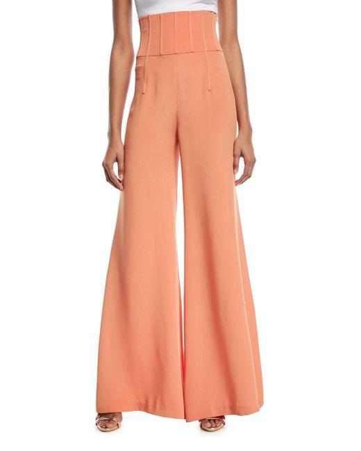 Cushnie et Ochs - Orange Jade High-waist Wide-leg Pants - Lyst