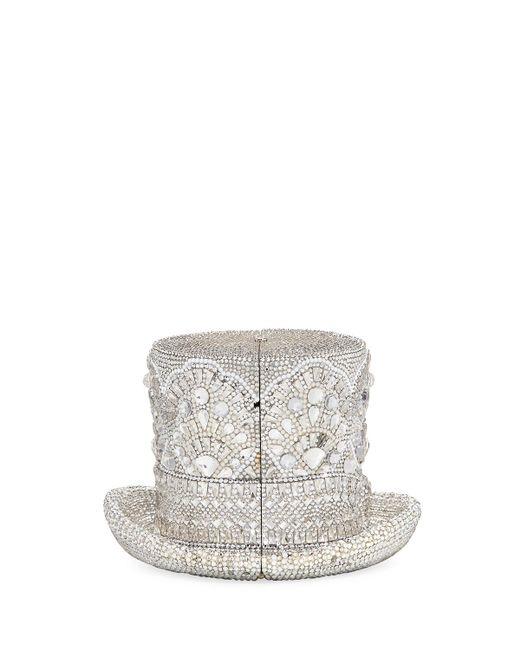 Judith Leiber - Metallic Abracadabra Crystal Top Hat Minaudiere - Lyst
