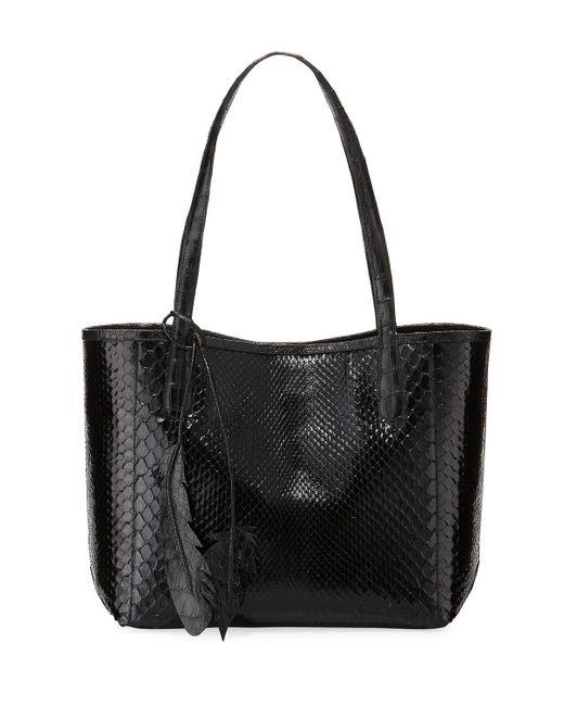 Nancy Gonzalez   Black Erica Small New Python Leaf Tote Bag   Lyst