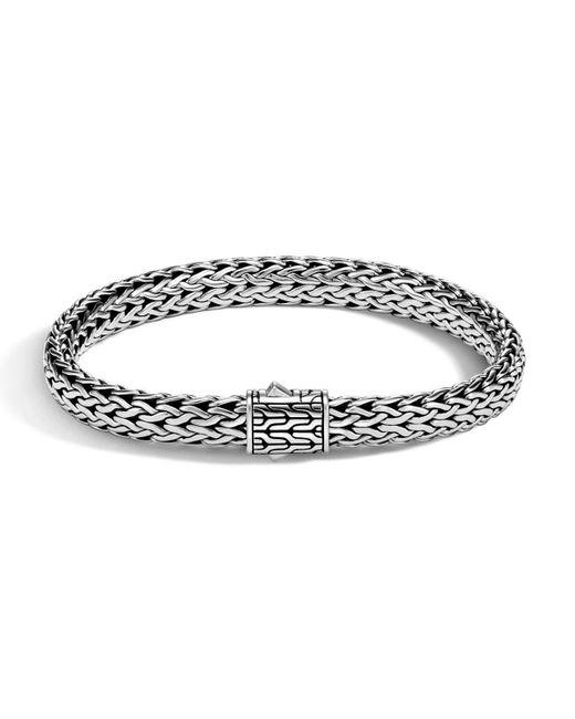 John Hardy - Metallic Men's Small Classic Chain Bracelet W/ Sterling Silver for Men - Lyst