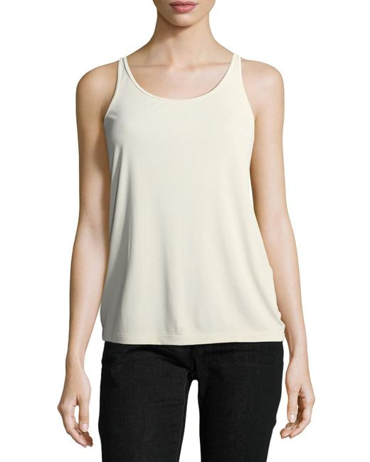 Eileen Fisher - White Silk Jersey Long Slim Camisole - Lyst