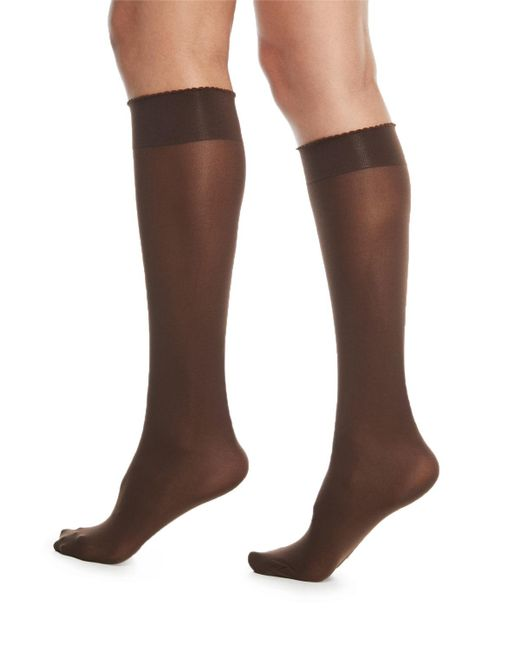 Wolford - Black Velvet De Luxe 50 Denier Knee-high Socks - Lyst