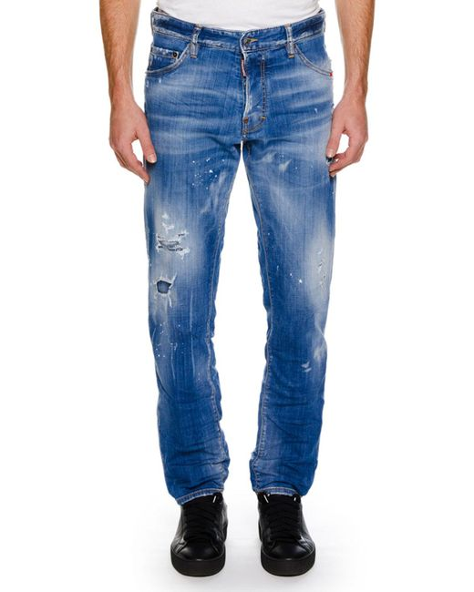 DSquared² - Blue Distressed Cool Guy Jean for Men - Lyst