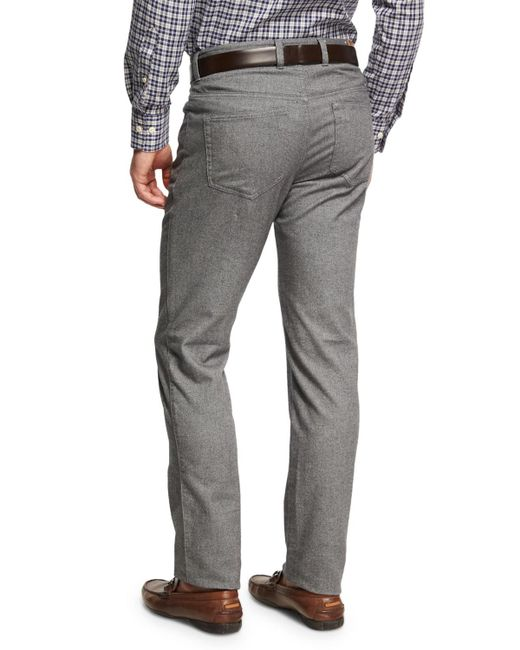 Peter Millar | Gray Crown Mountainside Flannel 5-pocket Pants for Men | Lyst