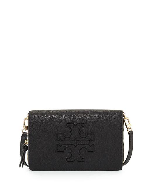 Tory Burch   Black Harper Flat Wallet Crossbody Bag   Lyst