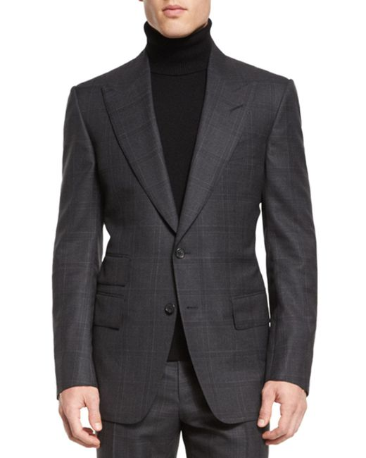 Tom Ford - Gray Windsor Base Windowpane Two-piece Suit for Men - Lyst