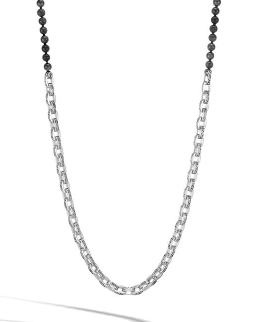 John Hardy - Black Men's Classic Chain Link Necklace W/ Onyx Beads for Men - Lyst