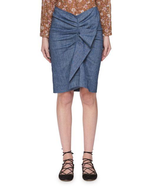 Étoile Isabel Marant - Blue Ornela Ruffle Chambray Skirt - Lyst