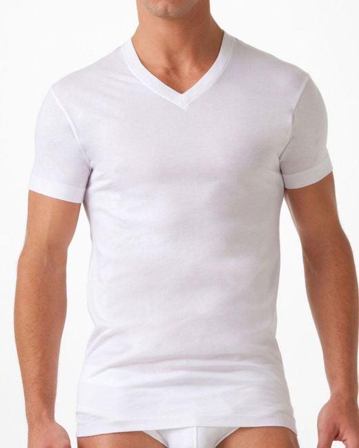 2xist - White Pima Cotton V-neck T-shirt for Men - Lyst
