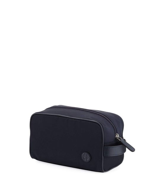 Giorgio Armani | Blue Nylon Travel Toiletry Kit | Lyst