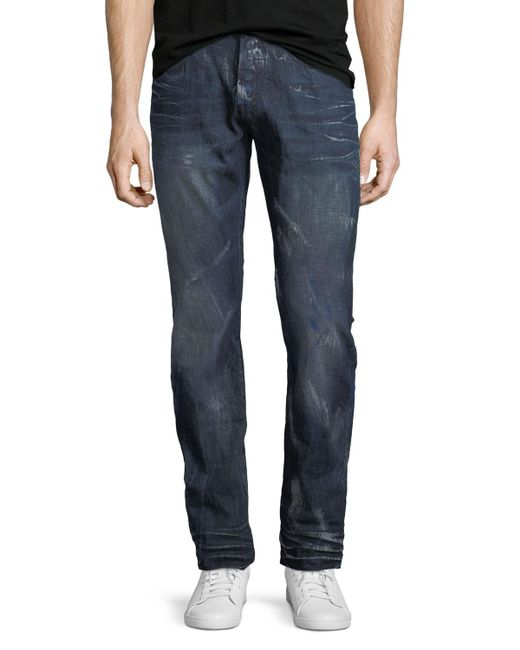 PRPS - Blue Demon Distressed Slim-straight Jeans for Men - Lyst
