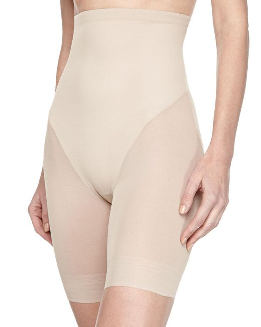 Tc Fine Intimates - Natural High-waist Mid-thigh Shaper - Lyst