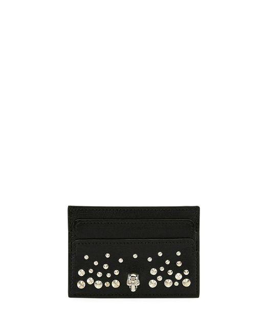 Alexander McQueen - Black Skull Card Holder In Studded - Lyst