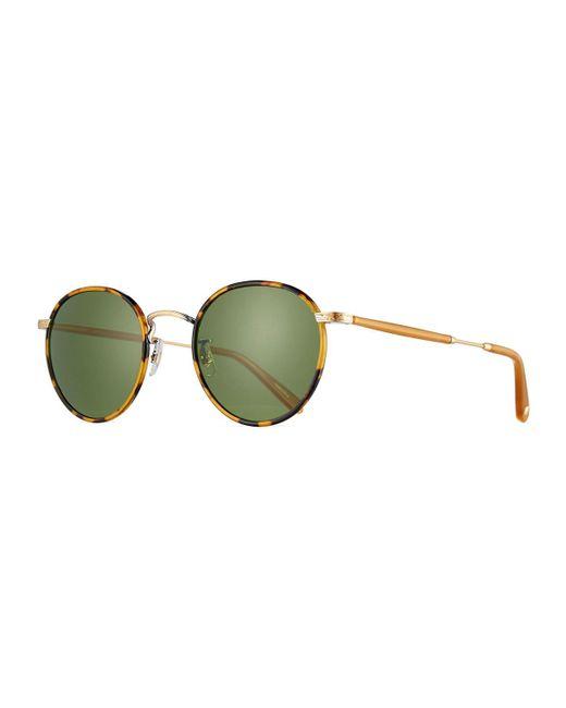 Garrett Leight - Brown Wilson Round Monochromatic Sunglasses - Lyst