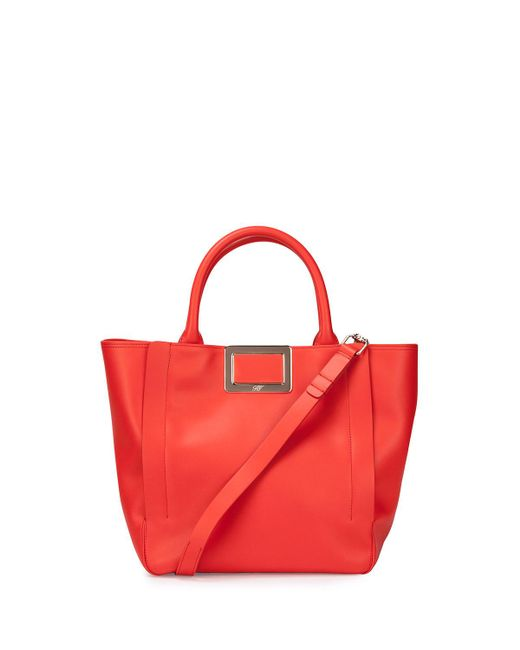 Roger Vivier - Red Ines Small Shopping Bag - Lyst