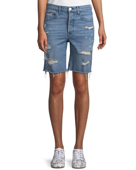 3x1 - Blue W3 Ryder Knee-length Shorts - Lyst
