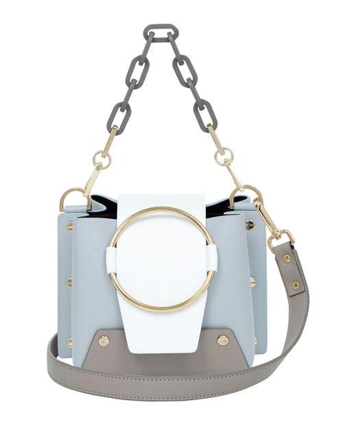 aa2f90fa14 Lyst - Yuzefi Mini Delila Shoulder Bag in Blue - Save 3%