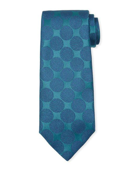 Charvet | Blue Adjoining Large-dot Silk Tie for Men | Lyst