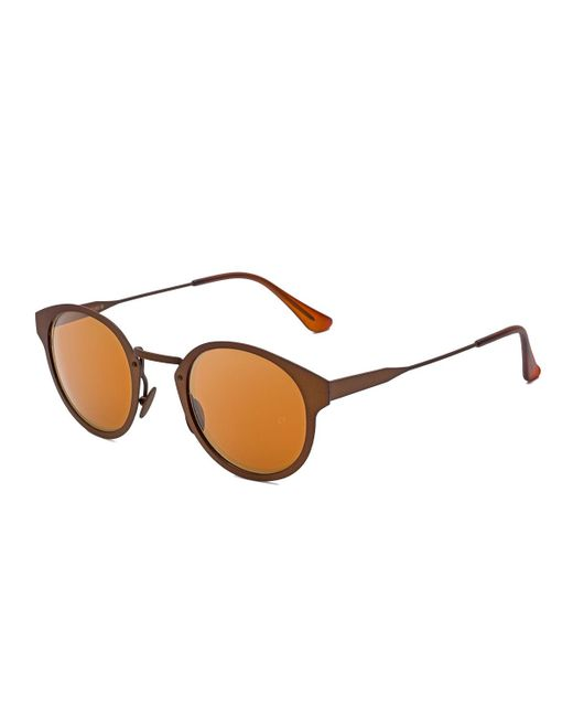 Retrosuperfuture - Brown Panama Synthesis Round Sunglasses - Lyst