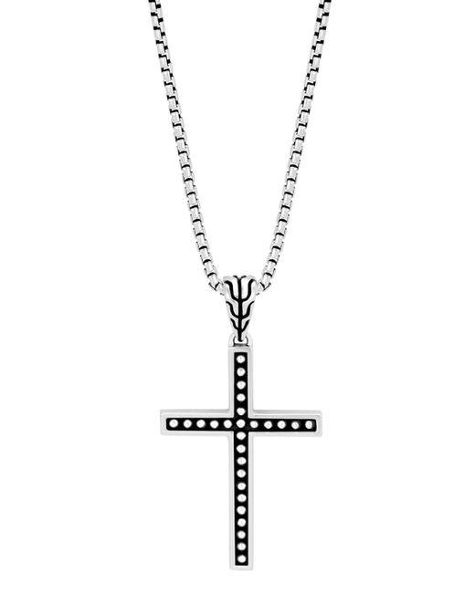 John Hardy - Metallic Men's Classic Chain Jawan Cross Pendant Necklace for Men - Lyst