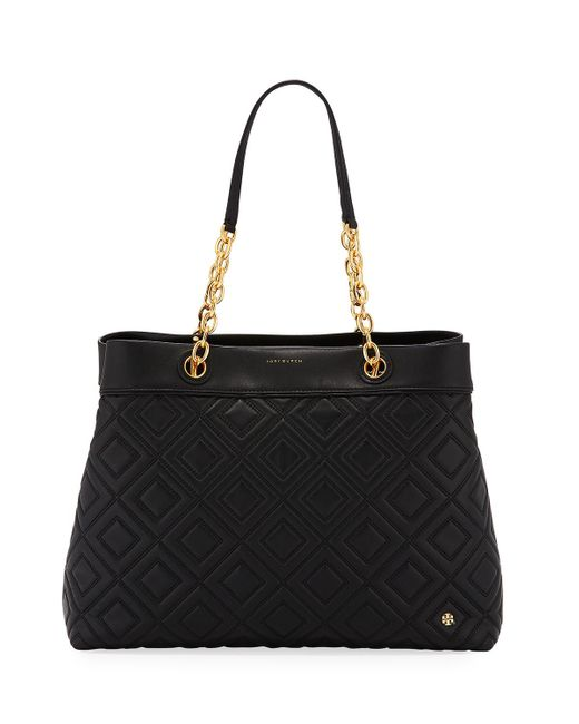 Tory Burch - Pink Fleming Quilted Leather Tote Bag - Lyst