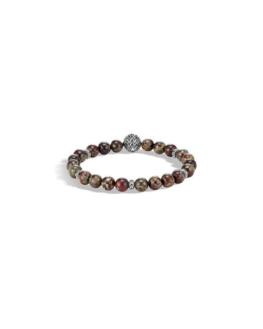 John Hardy - Red Men's Classic Chain Bead Bracelet W/ Jasper for Men - Lyst