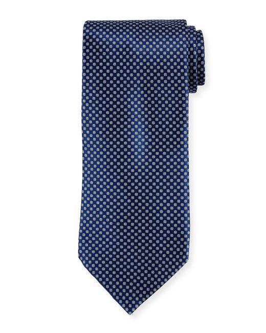 Stefano Ricci - Red Neat Pattern Silk Tie for Men - Lyst