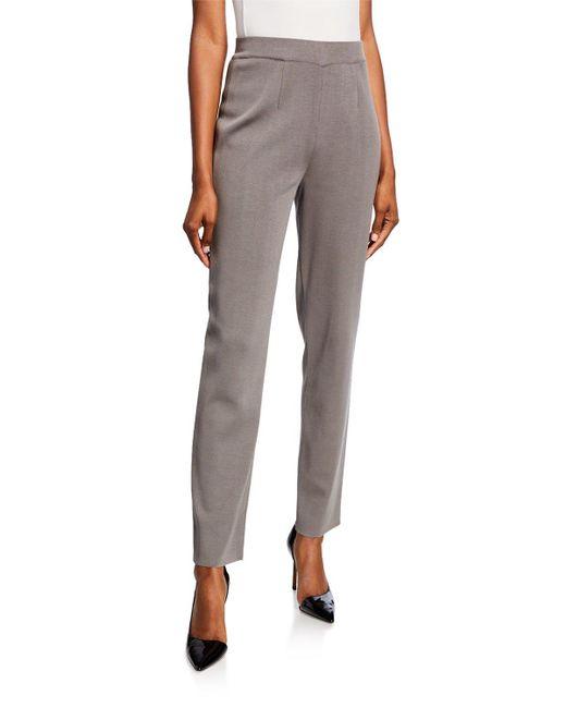 Misook Gray Plus Size Straight-leg Ankle Pants