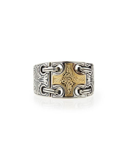 Konstantino - Metallic Men's Maltese Cross Chain-loop Ring for Men - Lyst