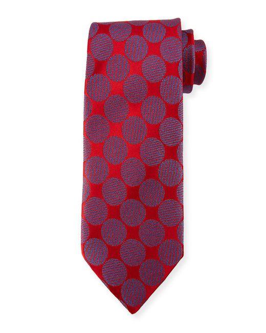 Charvet - Red Adjoining Large-dot Silk Tie for Men - Lyst