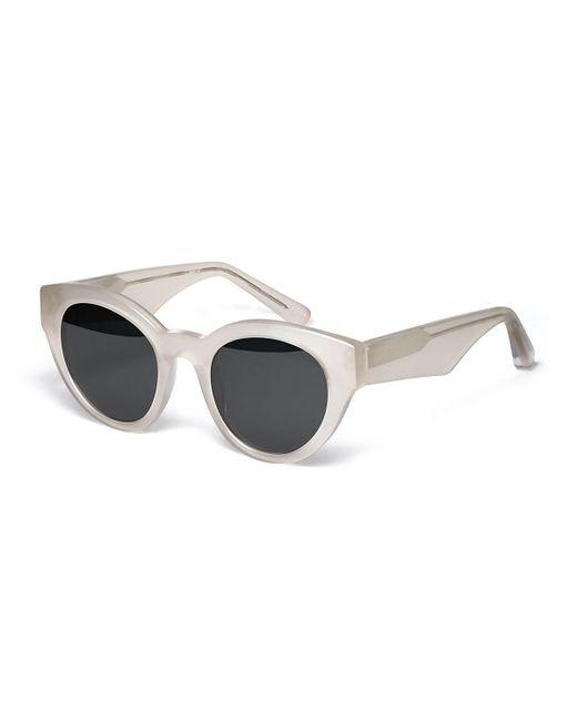 Elizabeth and James   White Payton Chunky Cat-eye Sunglasses   Lyst