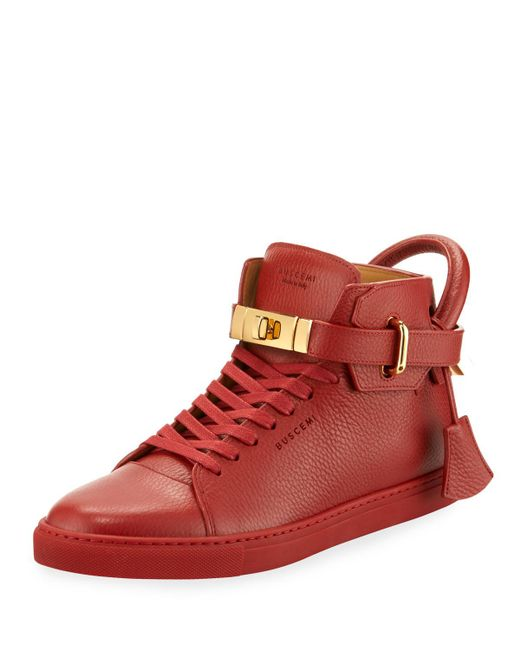 Buscemi - Red '100mm' Hi-top Sneakers for Men - Lyst