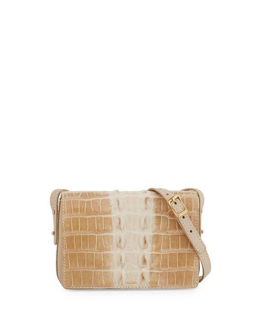VBH - Natural Pulce Horned Crocodile Crossbody Bag - Lyst