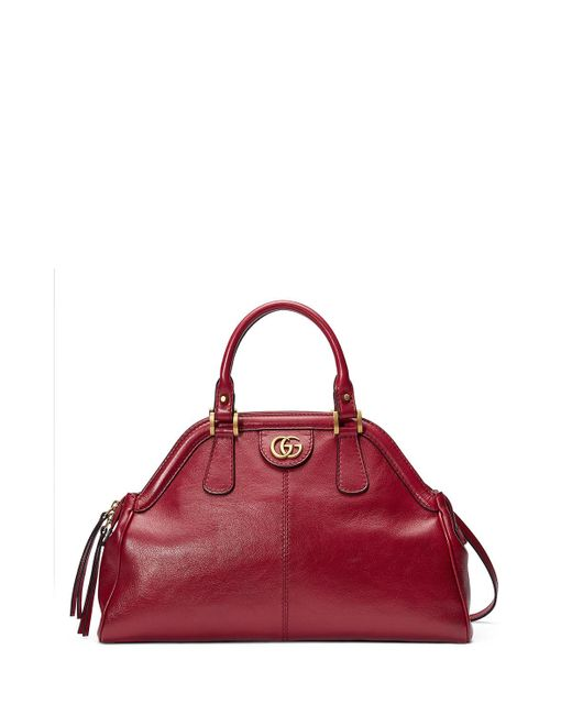 Gucci Red Medium Re(belle) Leather Satchel