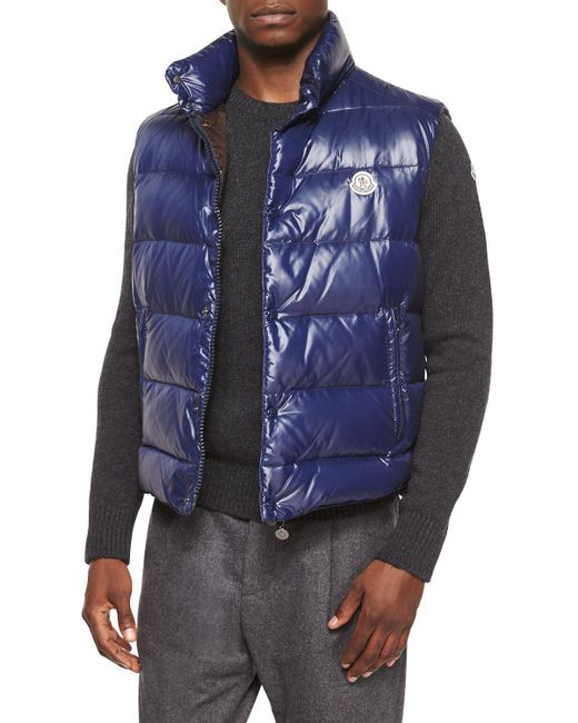 Moncler - Blue Tib Puffer Vest for Men - Lyst