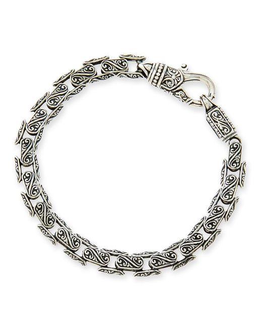 Konstantino - Metallic Men's Scroll Oval Link Bracelet for Men - Lyst