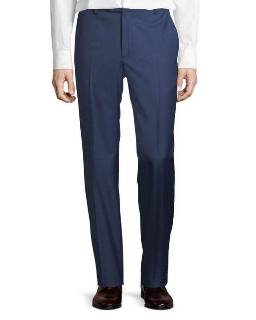 Santorelli - Blue Men's Sharkskin Wool Dress Pants for Men - Lyst